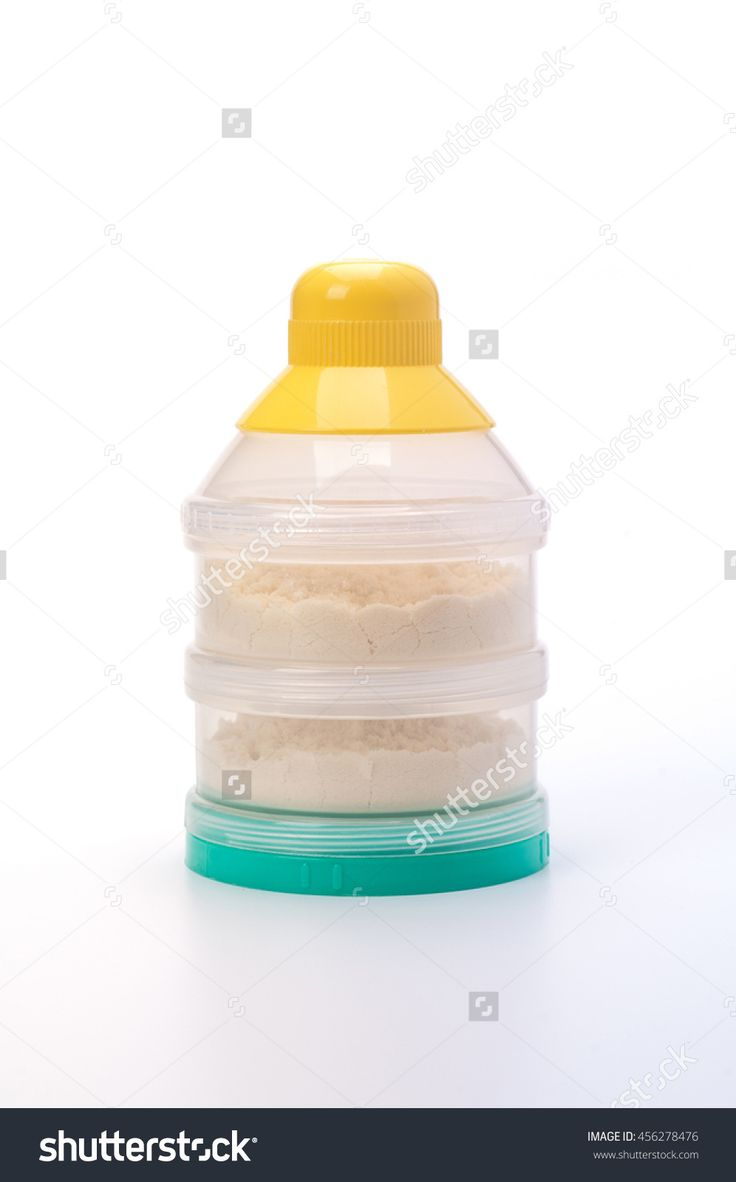 Container Of Powdered Milk For Infants On White Background. Stock Photo 456278476 : Shutterstock