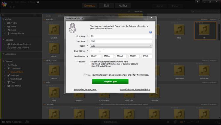 pinnacle studio 9 activation key serial free