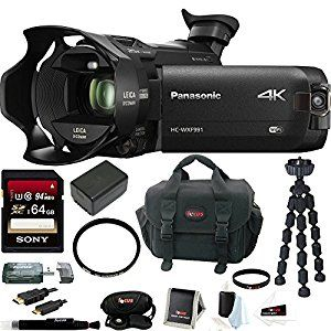 A LOT OF CAMERA FOR THE PRICE -  Panasonic HC-WXF991K 4K Ultra HD Camcorder w/ Twin Camera + Wasabi VBT190  #4k #camera #videocamera #camcorder #photography #movies #diy #affiliatelink #video