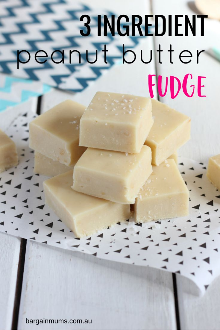 This 3 Ingredient Peanut Butter Fudge is the only quick and easy fudge recipe you will ever need