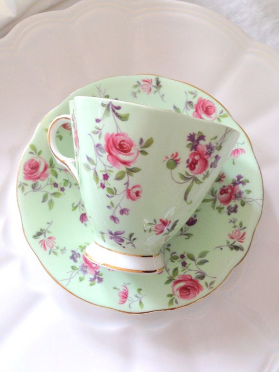 English Bone China Windsor Tea Cup and Saucer by MariasFarmhouse