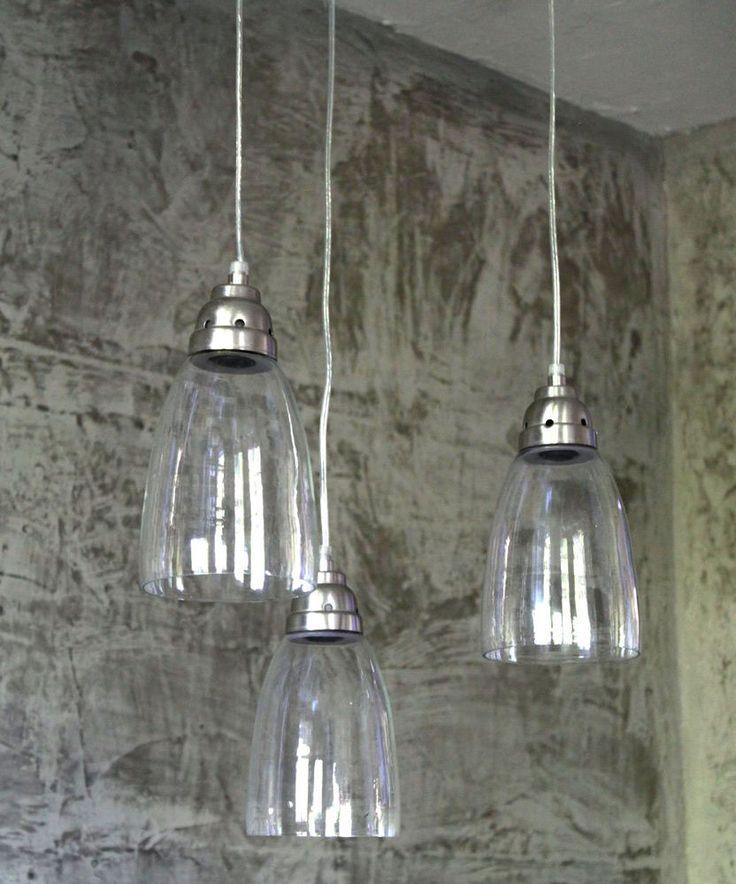 glas h ngelampe lampe klassisch vintage shabby chic. Black Bedroom Furniture Sets. Home Design Ideas