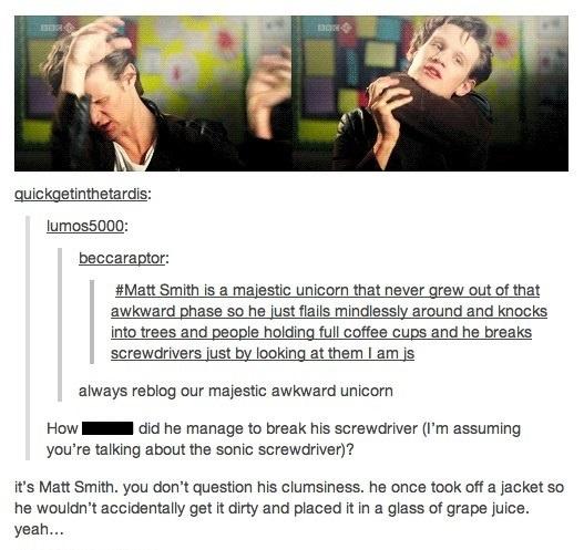 Matt Smith: Our majestic, awkward unicorn