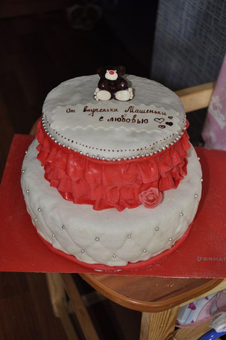 Торт для бабушки #торт_на_заказ_днепропетровск #юбилейные #бисквитный_торт #шоколадный_торт #комбинированный_торт