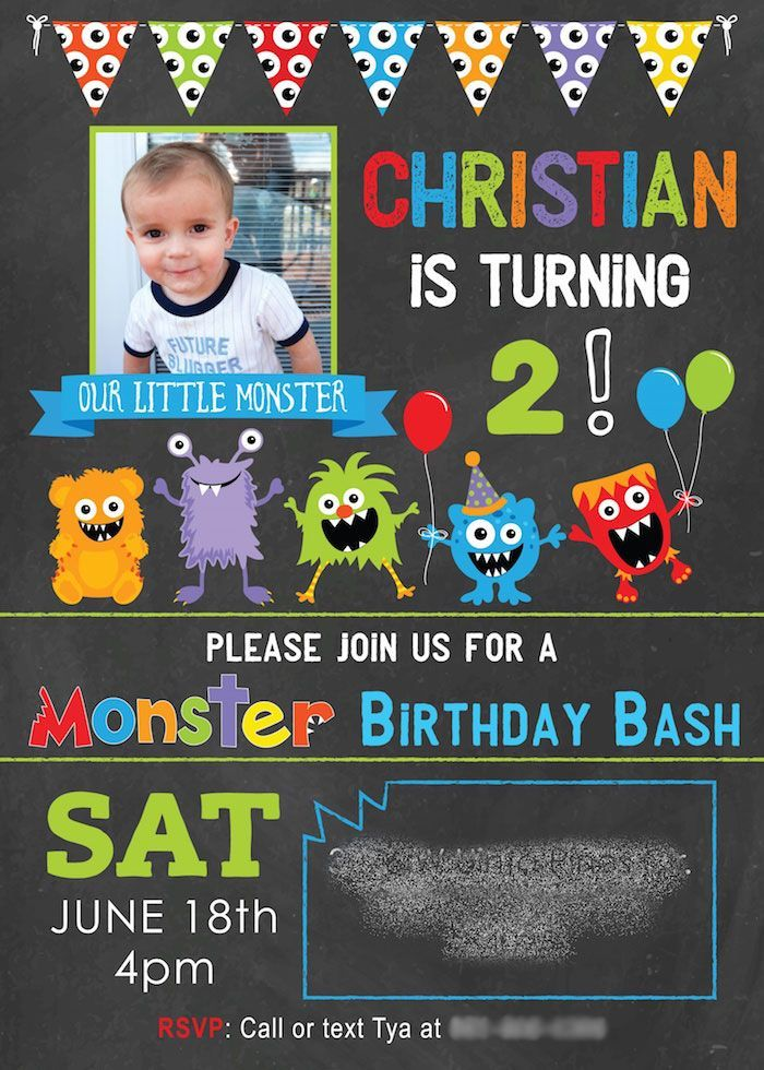 Monster Party Invitation from a Little Monster Birthday Party on Kara's Party Ideas | http://KarasPartyIdeas.com (5)