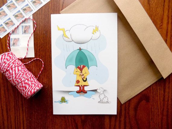 Under the weather Greeting Card Christian Greeting Card