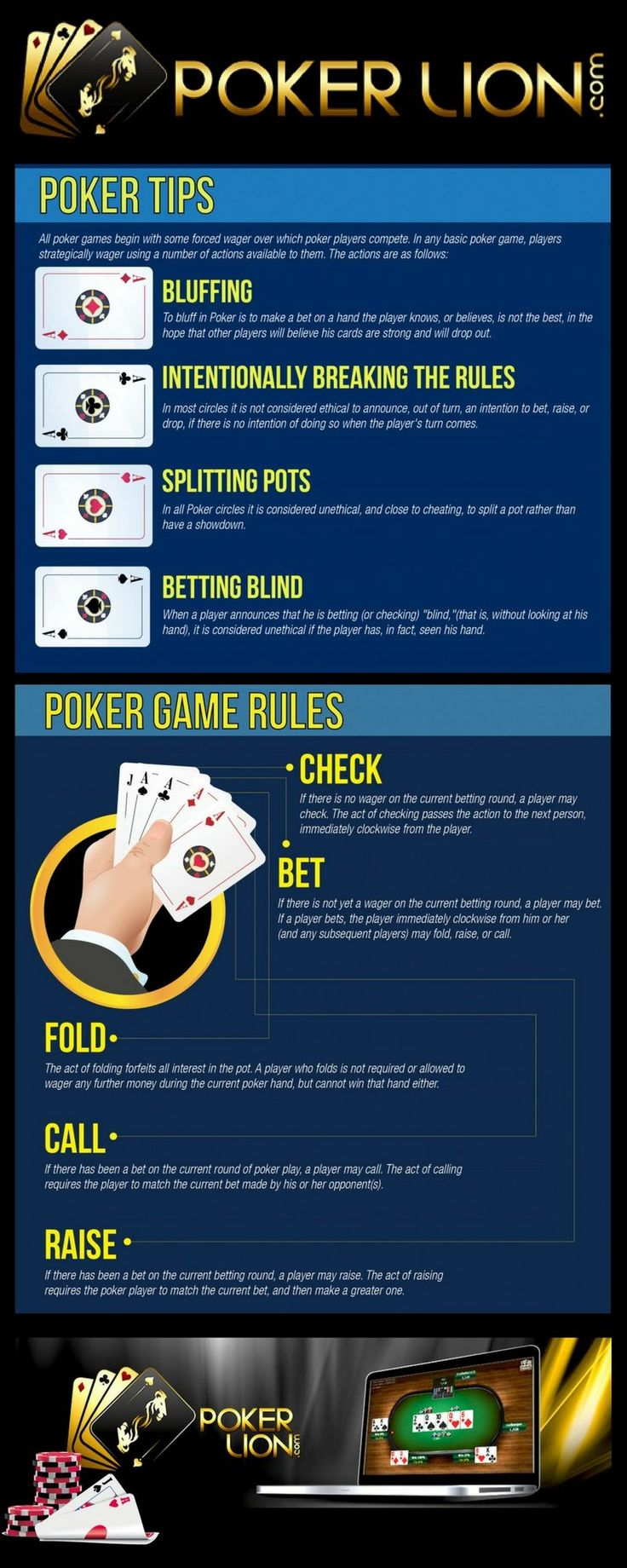 Learn how to play poker and poker tips with