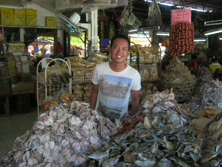 Dried Fish market at Tabo-an. Ref magnets also sold here.