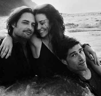 Josh Holloway,  Evangeline Lily and Matthew Fox in Lost