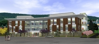 Broome Community College's new 48,000 GSF Natural Science Center - rendering.