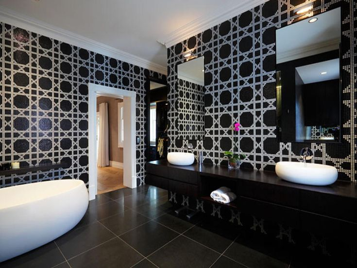 Black and White Bathrooms; Design ideas