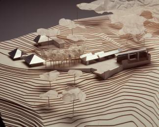 Model : Boyd Education Centre, Riverdale, NSW AU (1995) | Glenn Murcutt with Reg Lark and Wendy Lewin