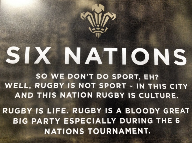 Says it all. The six nations is an excuse for a party. Being Welsh we're used to partying regardless of the score. Credit: Porter's bar, Cardiff.