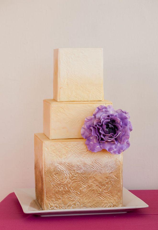Metallic Wedding Cakes | bellethemagazine.com