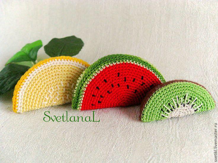 Купить Сочные и полезные фрукты - игрушка ручной работы, еда для кукол, развивающая игрушка