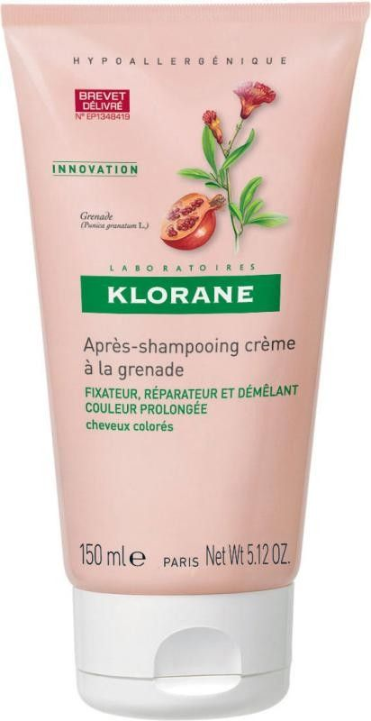 Klorane Conditioner with Pomegranate Μαλακτική Κρέμα για Βαμμένα Μαλλιά με Ρόδι Προστατεύει το Χρώμα από το Ξεθώριασμα 150ml. Μάθετε περισσότερα ΕΔΩ: https://www.pharm24.gr/index.php?main_page=product_info&products_id=2616