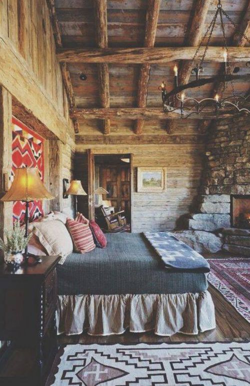 Love the rustic and boho infusion in this room. I'd just add a few sparkly accents.