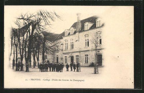 remarquable-CPA-Provins-College-Palais-des-Comtes-de-Champagne