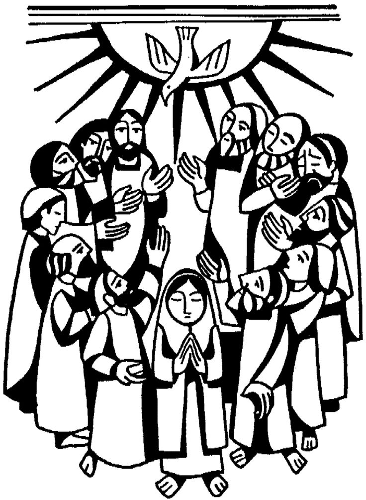 29 best images about the church began pentecost on for Pentecost coloring pages