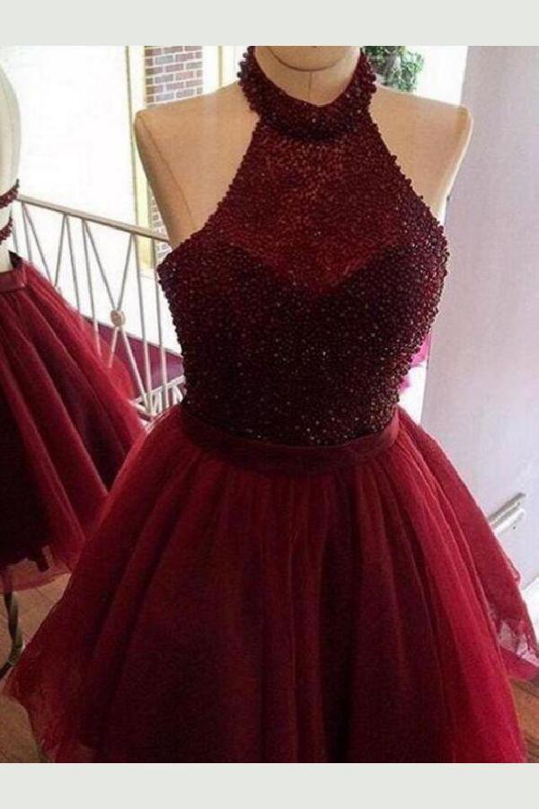 a025e928834 Feminine Backless Homecoming Dresses