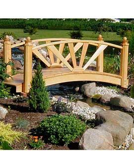 Garden bridge.  If I have a big backyard, I've always wanted a little stream and a bridge over it.