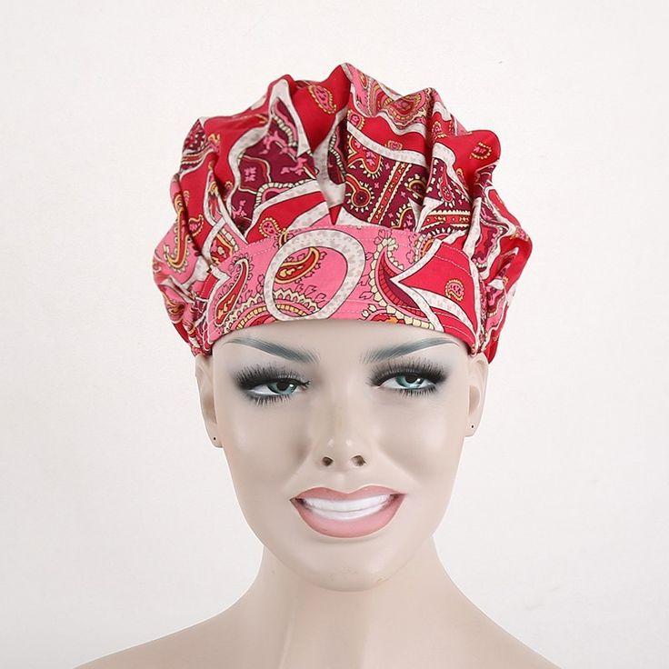 New Matin Women Bouffant Surgical Scrub Medical Chemo Hat/Cap bo luo mi