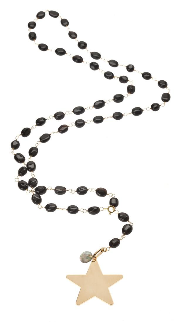 Collar estrella con piedras semipreciosas. #Regalos #personalizados #joyas #grabadas