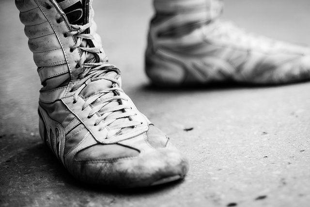 """© Emilio Aparicio Rodríguez, Foto 15 de la serie """"Puños de Acero"""", Cuba, 2012.  Detalle de las zapatillas de boxeo utilizadas por los deportistas. #BAC #fotografia #contemporanea #photography #contemporary #art #arte #bogota #cuba"""