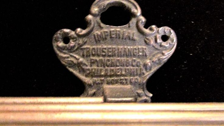 "Antique IMPERIAL Trouser Hanger 9"" Cast Iron Globe Electro Co. Philadelphia, PA #Imperial"