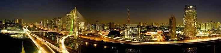Conheça o Panorama noturno da ponte estaíada. Somente em nosso site
