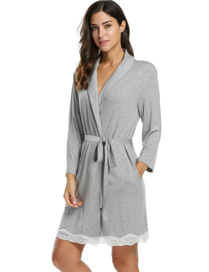 Looking for the perfect Avidlove Womens Bathrobe Soft Kimono Cotton Knit  Robe Lace Trim Sleepwear 464c4a9a6