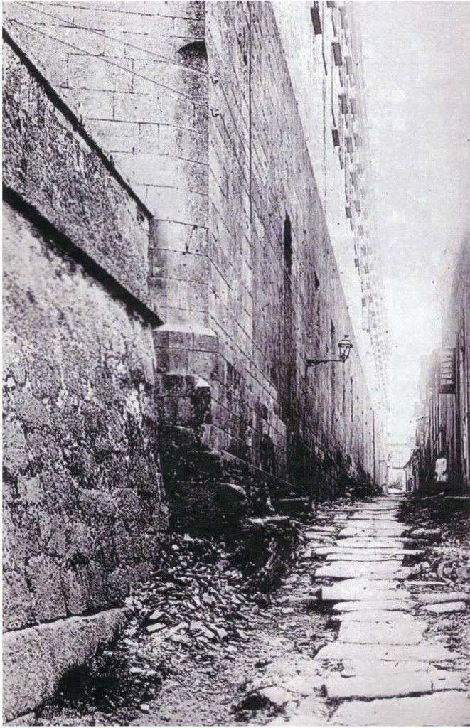 Rúa de Val de Dios hacia 1920. Fotografías antiguas de Santiago de Compostela
