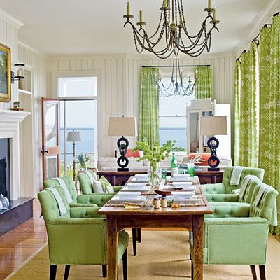 Really like the feel of this space! Love the dining room chairs.
