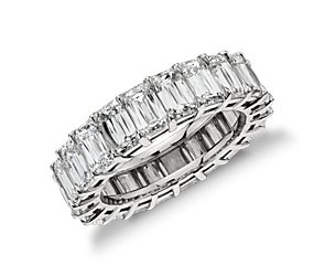 Brilliant Emerald Cut Diamond Eternity Ring in Platinum (9.27 ct. tw.) #BlueNile