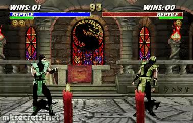 Reptile Fatality I - Ultimate Mortal Kombat 3 (GIF)