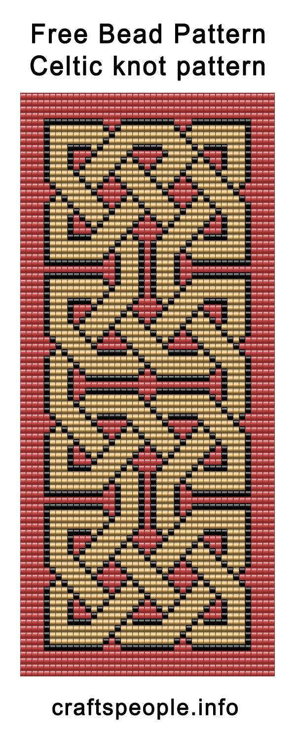 Bead Weaving Loom Patterns Free Free Bead Pattern Celtic                                                                                                                                                                                 More