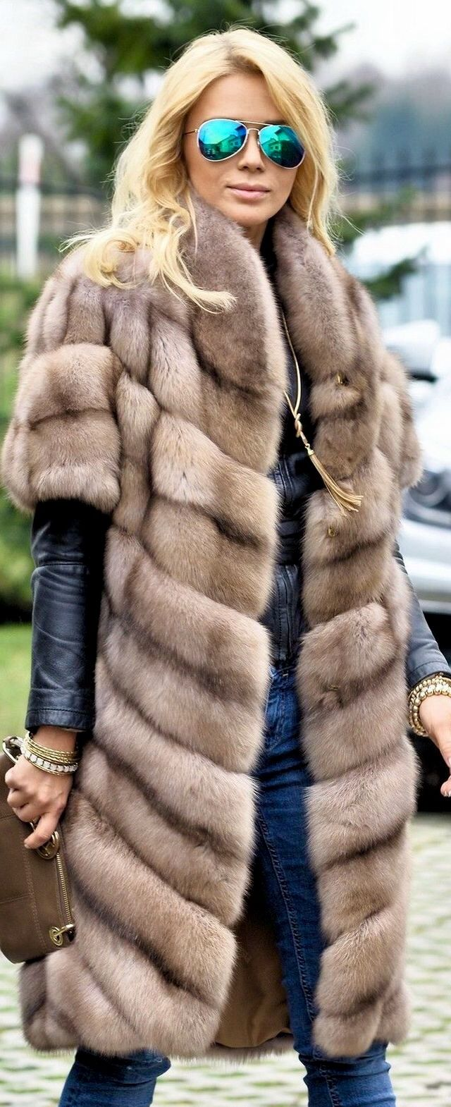 Russian Sable Fur Coat.  I do not endorse this item.  This is my platform to urge every one to buy faux fur.