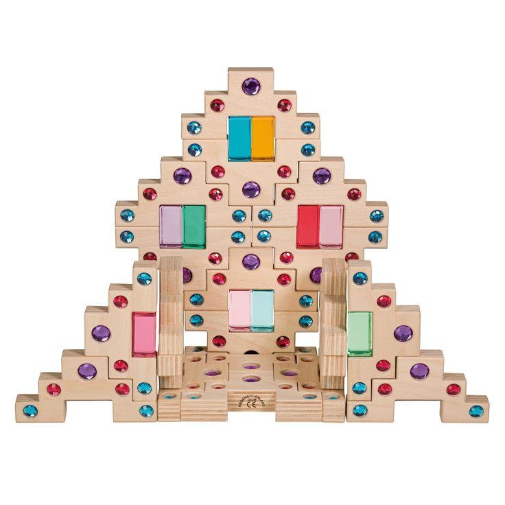 Regenbogenland - Holz und Glitzer - perfekt für die Bauecke im Kindergarten!  http://hoeller-spiel.at/produkt/himmelstreppe/