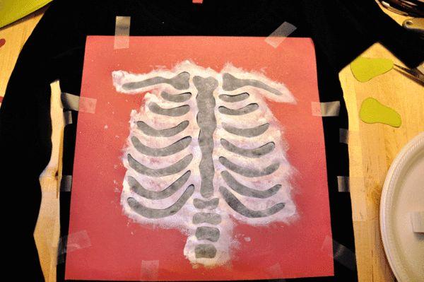 Diy Halloween Skeleton Baby Maternity Shirt Paint Hand