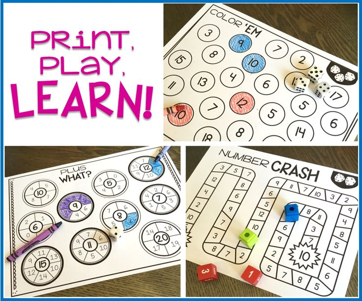 Print and Play Math Games! - TGIF! - Thank God It's First Grade!