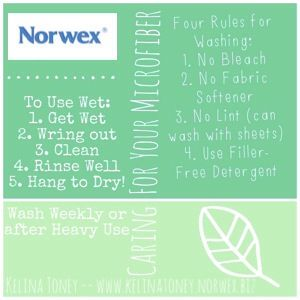 Simple summary how to use and care for your Norwex!
