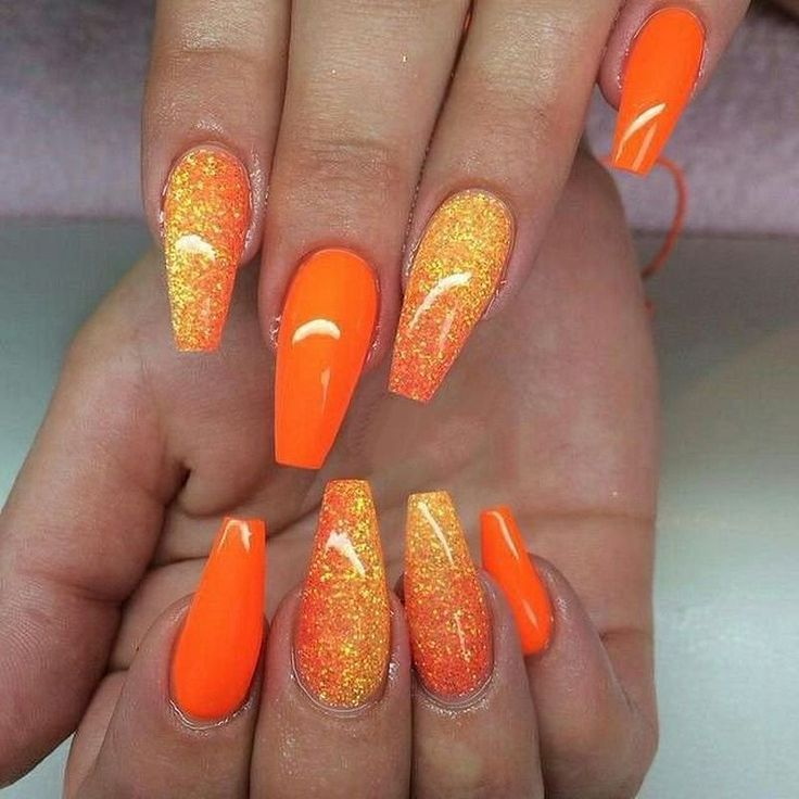 27 Beautiful Orange Nail Art Designs You Should Try Fashion Star