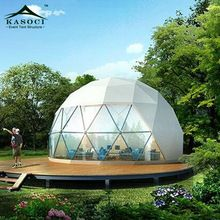 [Outdoor Sports] China Supplier Outdoor Prefab Event PVC Steel House 6M Glamping Bell Eco Canopy Tent Geodesic Dome
