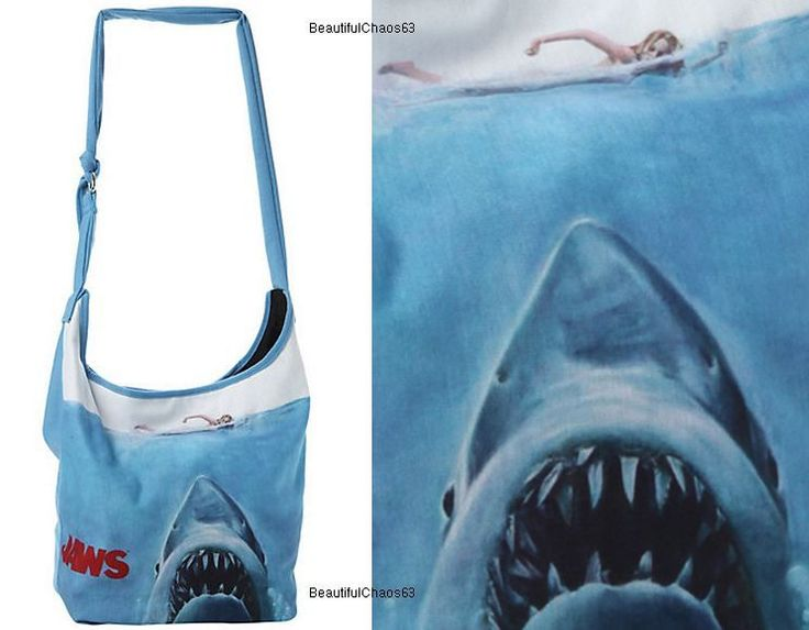 Oceanic Nautical Jaws Shark film thriller Poster crossbody Hobo Bag Tote Purse #unspecified #Hobo