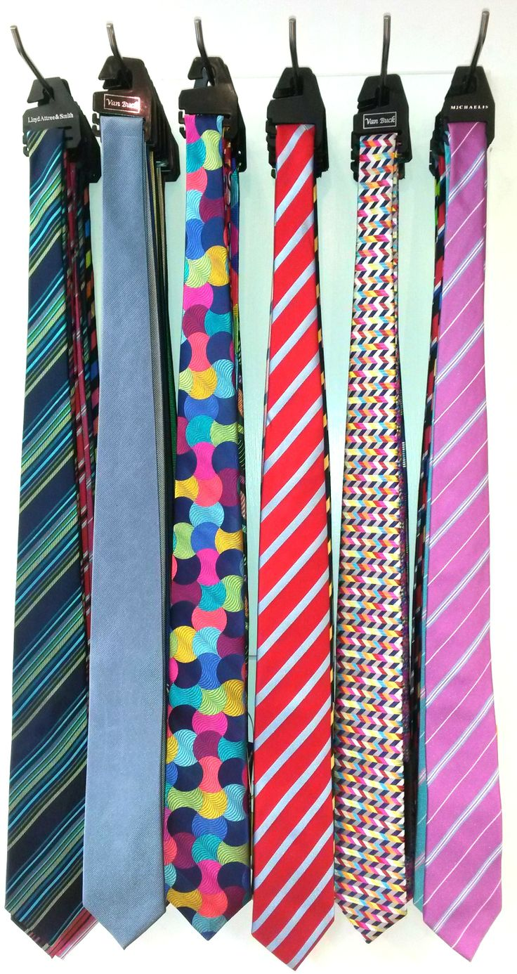 Bright ties in all colours - the perfect sartorial statement. Silk ties are available from just £25 from Luck of Louth. We also have some beautiful limited edition Van Buck silk ties (zigzag design, 2nd from right) at £60. You can't go wrong with a tie...
