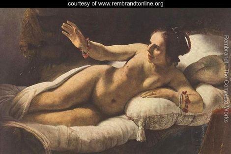 Danae (detail-3) 1636-47 - Rembrandt Van Rijn - www.rembrandtonline.org