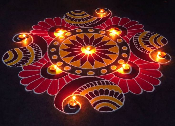 Kolangal Designs for Diwali