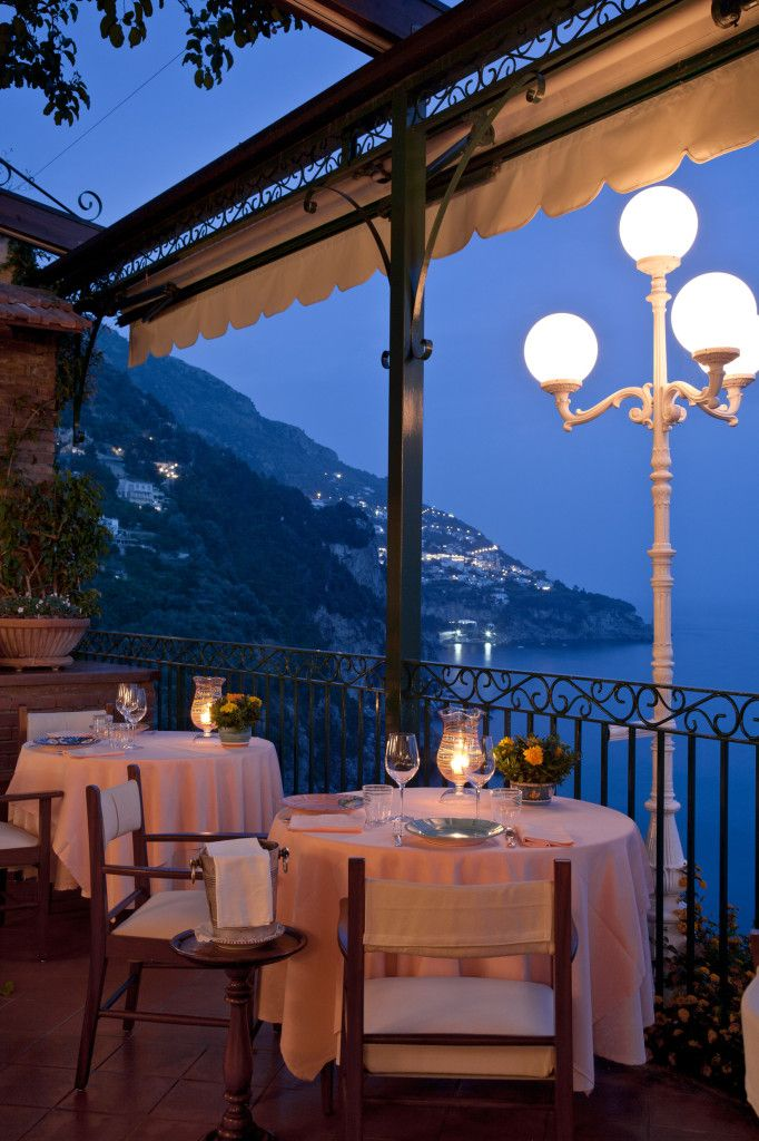 Dinner at Zass restaurant at Il San Pietro -Positano, Province of Salerno , Campania region , Italy.