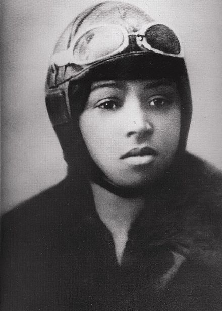 Bessie Coleman, First African American Pilot  Coleman became the first black woman to earn a pilot's license and the first black woman to stage a public flight in the United States.