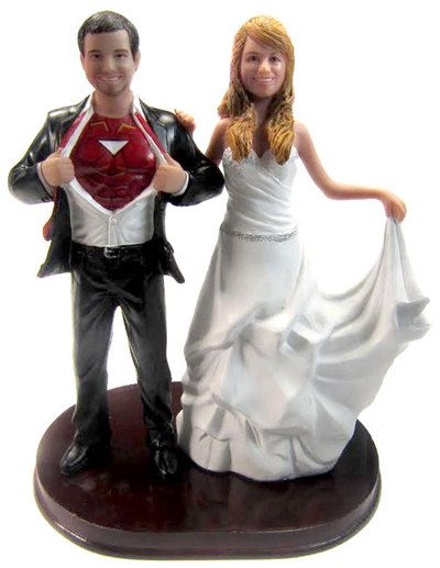 Iron Man Wedding Cake Topper! You can even customize it to look like the bride and groom!